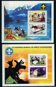 [19676] Nicaragua 1975 Scouting Jamboree 2 VF Sheets MNH