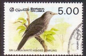 Sri Lanka 1987  used  838  birds 5r. starling     #