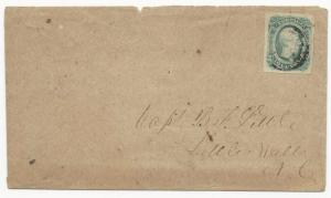 CSA Scott #12c AD on Cover Army of Northern Virginia Field Target Cancel Little