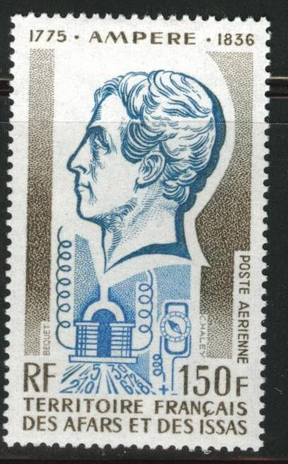 Afars and Issas Scott C92 MH* Ampere stamp