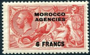 MOROCCO AGENCIES-1932 6f on 5/- Rose-Red Sg 201 MOUNTED MINT V30406