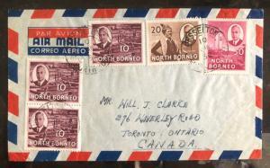 1952 Jesselton North Borneo Airmail Cover  to Toronto Canada