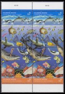 1992 UN Vienna 127-28Paarx2 used Sea fauna 5,00 €