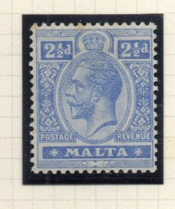 Malta 1921-22 Early Issue Fine Mint Hinged 2.5d. 321525