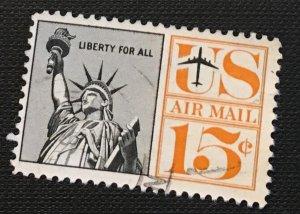 C63 Liberty, 15c, Redrawn, Circ. single, not tagged, Vic's Stamps Stash