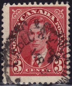 Canada - 1937 - Scott #233 - used - QUEBEC & CHICOUTIMI rpo