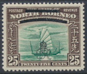 North Borneo  SG 345 SC# 233 MH    OPT GR Crown - See scans