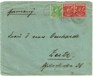 British East Africa 1901 Lamu cancel on cover to Germany