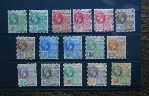 British Guiana 1913 - 1921 set to 96c MM Gum a little toned see photo
