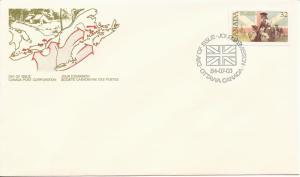 1984 Canada FDC Sc 1028 - United Empire Loyalists - Loyalists and British Flag