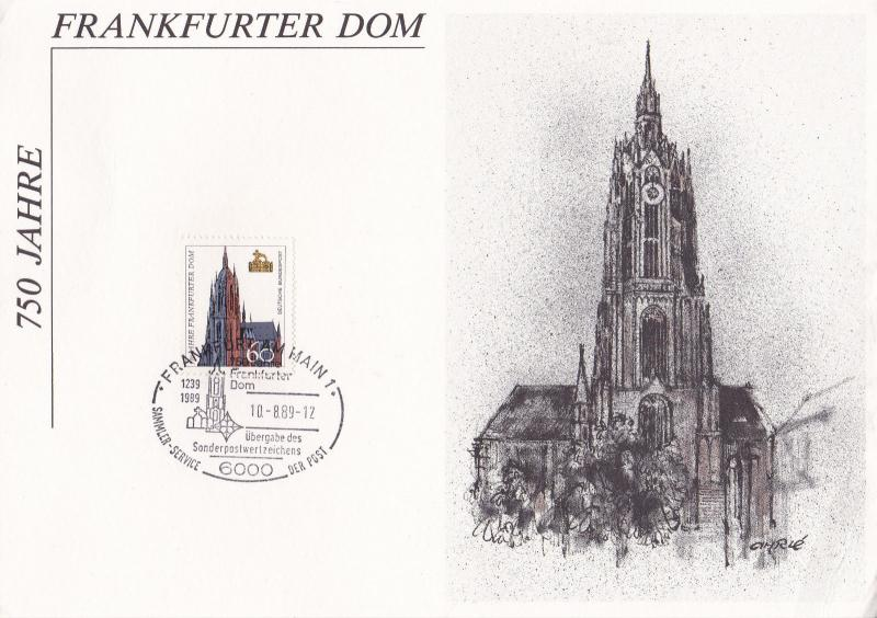 West Germany 1989 700 Years of Frankfurt Cathedral Frankfurt CDS VGC