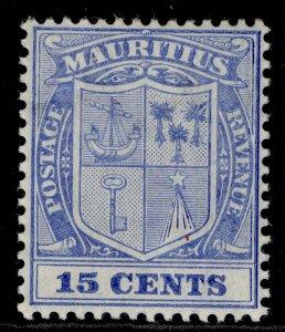 MAURITIUS EDVII SG189, 15c blue, LH MINT. Cat £19.