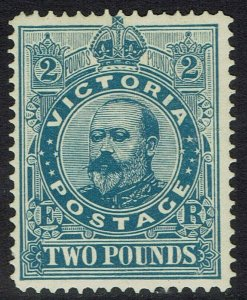 VICTORIA 1905 KEVII 2 POUNDS WMK CROWN/A PERF 12.5