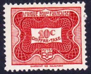 Fr. Eq. Africa Postage Due 1v 10c SG#D257 SC#J12