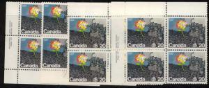 Canada - 1976 UN Habitat Conference Imprint Blocks #690