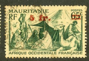 FRENCH WEST AFRICA 6 USED BIN .80 CAMEL, PEOPLE