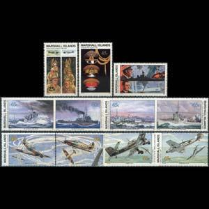 MARSHALL IS. 1990 - Scott# 255-65 WWII 1940 W11-5 Set of 11 NH