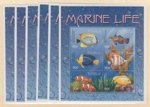 Tuvalu Scott #818-823 Stamps - Mint NH Souvenir Sheet Set
