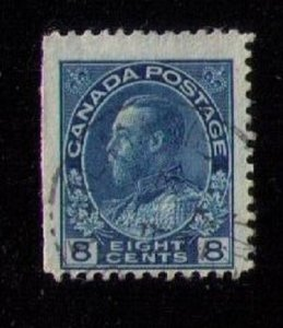 Canada Sc 115 KGV Eight Cent- Used F-VF