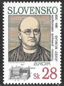 SLOVAKIA 1994 EUROPA Josef Murgas Radio Transmitters Issue Sc 180 MNH