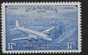 Canada CE3 MNH DC4 OVER QUEBEC 1948 ISSUE