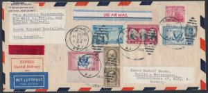 #639; 703; 736; CE1-2 ON HINDENBURG SPECIAL EXPRESS DELIVERY COVER BT167