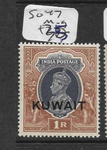 KUWAIT (PP0802B) ON INDIA    KGVI  1R  SG 47  MOG