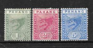 PAHANG  1891    TIGER SET 3     MH   SG 11/13