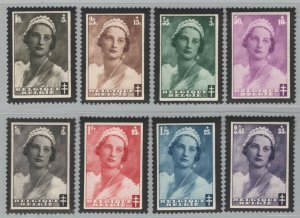 Belgium 1935 Queen Astrid Memorial set Sc# B170-77 NH