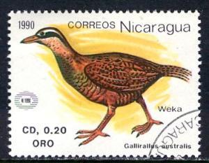 Nicaragua; 1990: Sc. # 1816: O/Used CTO Single Stamp