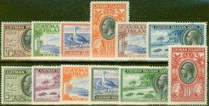 Cayman Islands 1935 set of 12 SG96-107 V.F Very Lightly Mtd Mint