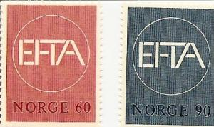 Norway 500-501 MNH