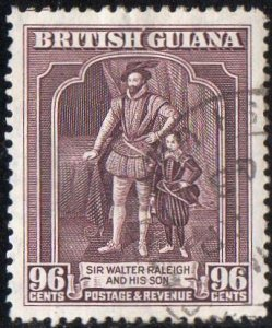 British Guiana 1938 96c Sir Walter Raleigh and son used