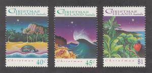 Christmas Island Scott #354-356 MNH
