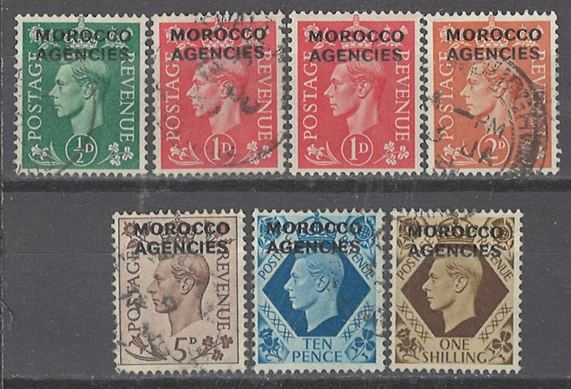 COLLECTION LOT # 2384 GREAT BRITAIN OFFICES IN MOROCCO 7 STAMPS 1949 CV+$62