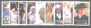 Turkmenistan MNH personalities,9v, 1997