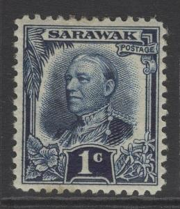 SARAWAK SG91 1932 1c INDIGO MTD MINT