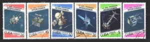 Cuba. 1987. 3084-89. Satellite, space. USED.