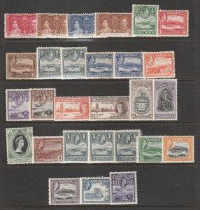 Antigua a small mint lot KGVI & early QE2