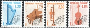 France 2169-72 - Mint-NH - Musical Instruments (1989) (cv $6.40)