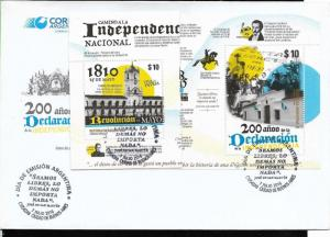 ARGENTINE ARGENTINA 2016 INDEPENDENCE WAY YV 3130-2 FDC
