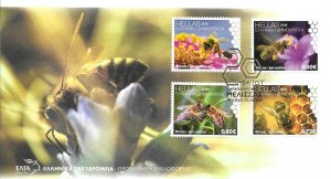 2018    GREECE   -  WORLD BEE DAY  -  FIRST DAY COVER