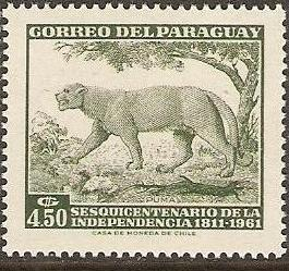1961 Paraguay Scott 596 Anni Indep. Single MNH