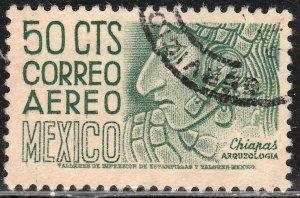 MEXICO C193, 50c 1950 Definitive wmk 279 Used. VF. (840)