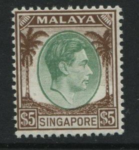 Singapore KGVI 1948 $5 mint o.g.