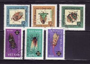 North Vietnam 360-365 Set U Insects (A)