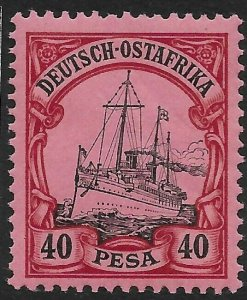 GERMAN EAST AFRICA SG22 1901 40p BLACK & CARMINE ON ROSE MTD MINT