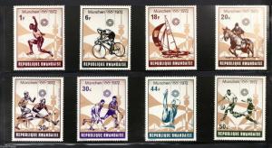 RWANDA 1972 postage stamps (8) Munich Olympic games set MNH F/VF Football etc..