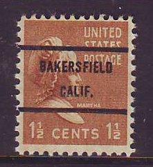 Bakersfield CA, 805-71 Bureau Precancel, 1½¢ M. Washington