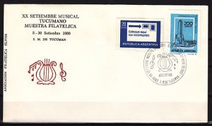 Argentina, 05-30/SEP/80. Musicale Tucumano cancel on a Cachet Cover. ^